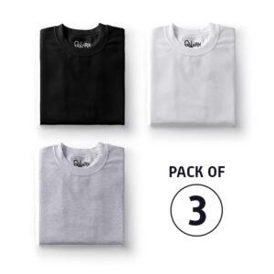 Combo Set- Solids: (Black, White, Grey)