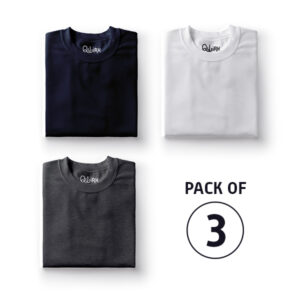 Combo Set- Solids: (Navy Blue, White, Charcoal Grey)